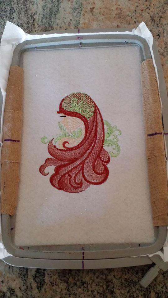 In hoop Style woman embroidered variant