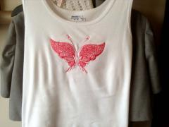 Shirt with Fantastic Butterfly free embroidery design