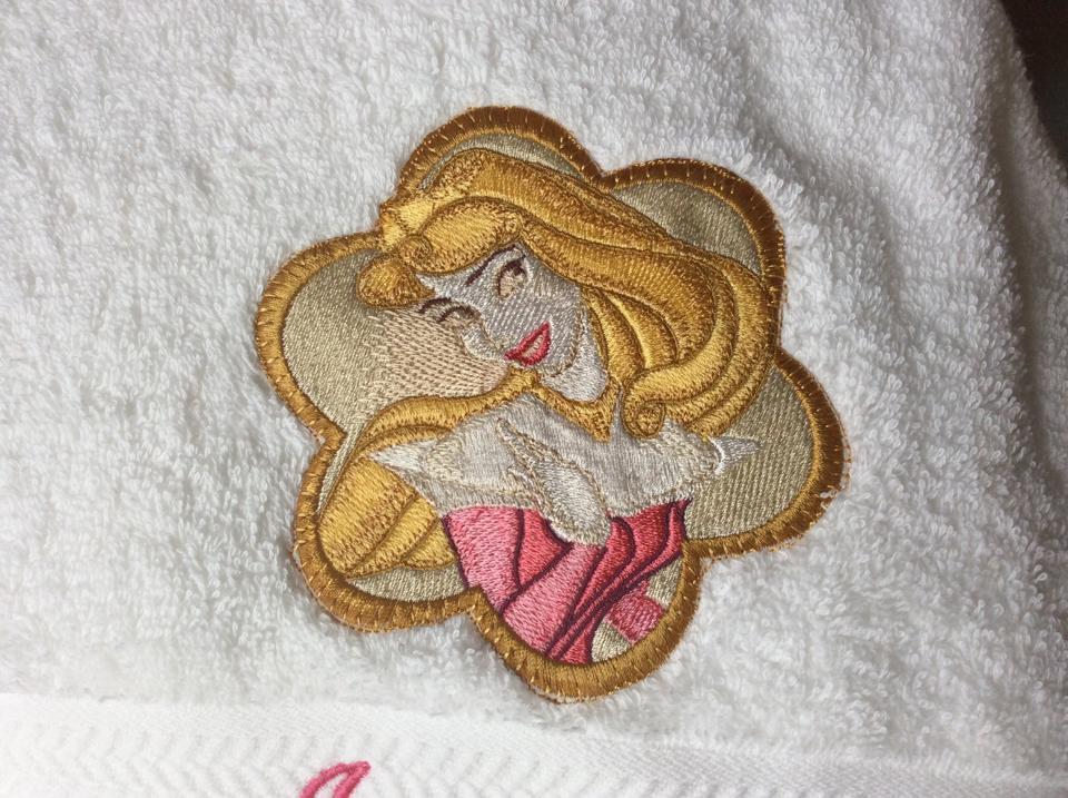 Aurora embroidered design
