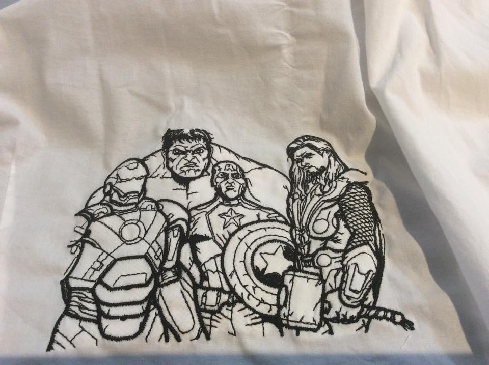 Avengers embroidered design