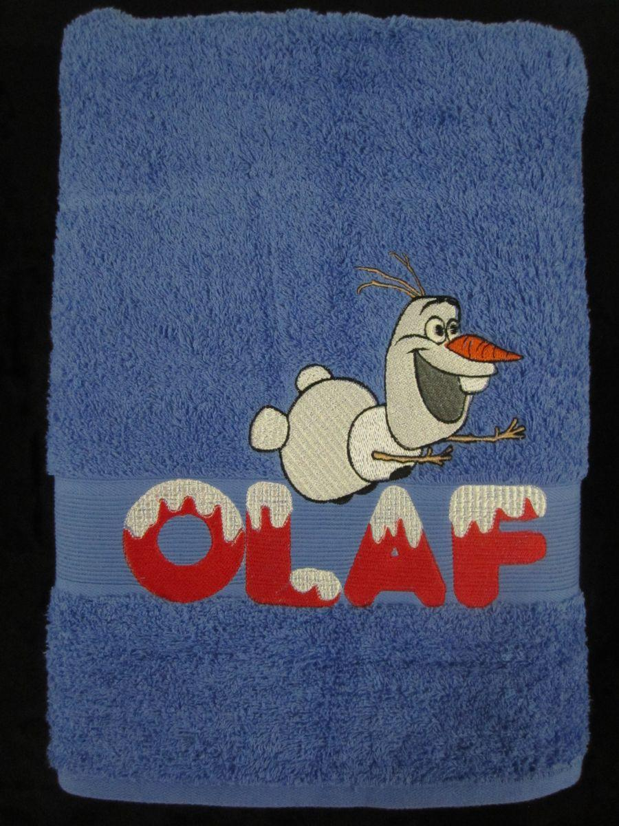 Olaf embroidered towel
