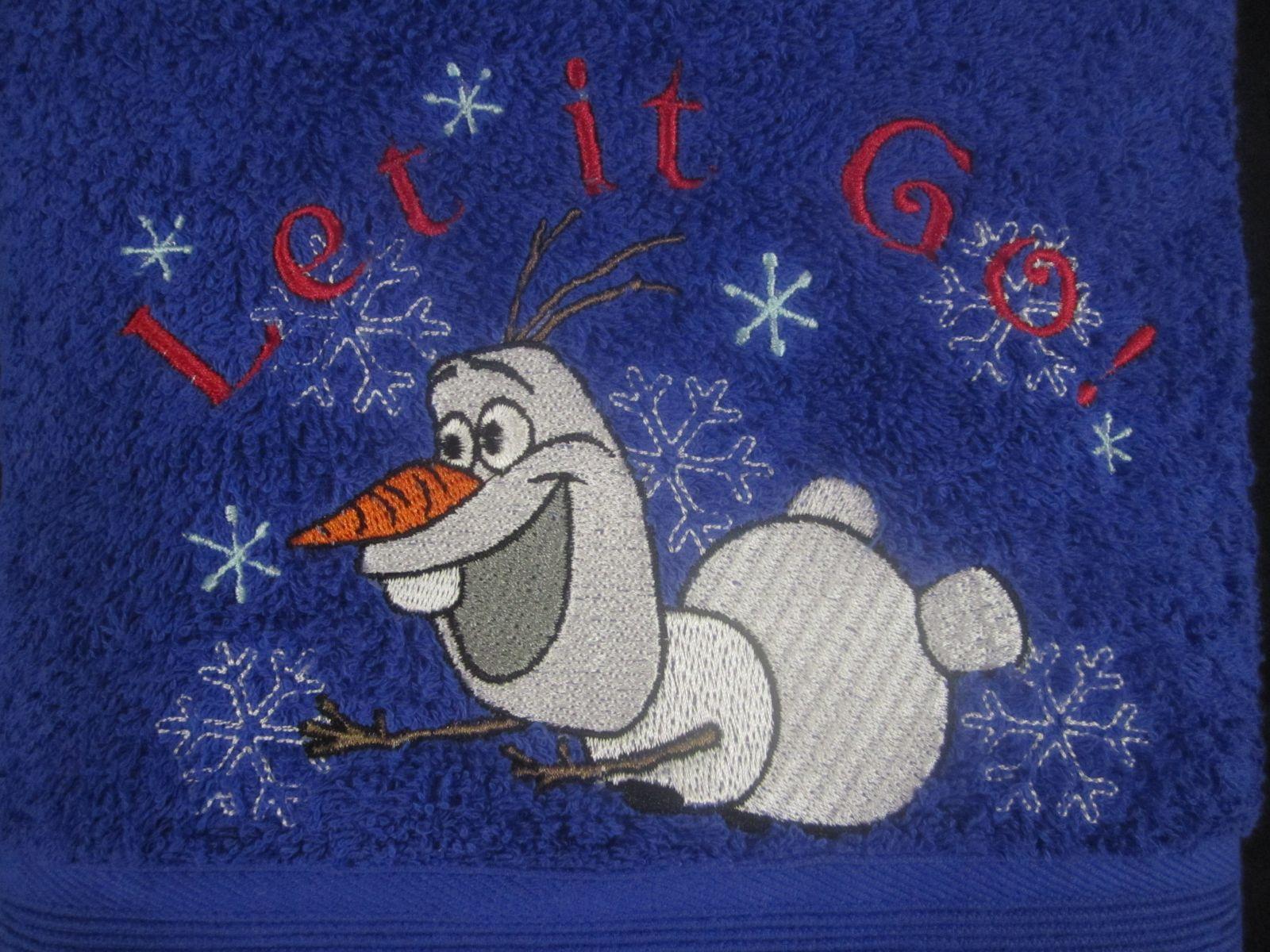 Olaf machine embroidery design