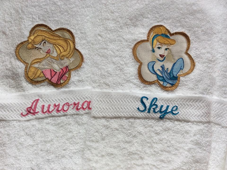 Disney Princess embroidered towels