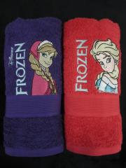 Embroidered towels with Frozen Sisters