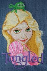 Rapunzel embroidery design