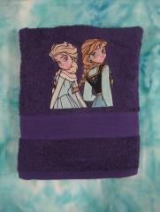 Frozen sister embroidery design