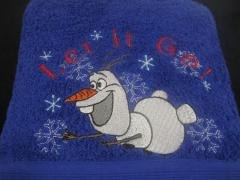 Olaf embroidery design