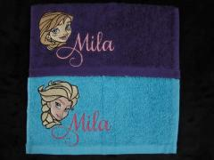 Embroidered towel with Frozen design
