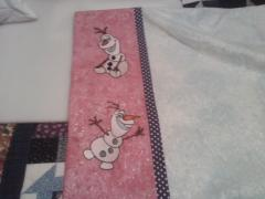 Pillowcase with Olaf embroidery designs