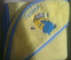 Embroidered Happy Minion design
