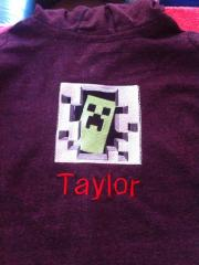 Minecraft Creeper in your door embroidery at jacket
