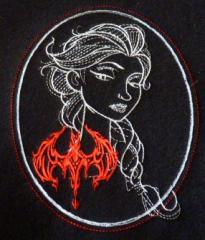 Frozen Elsa sketch embroidery design
