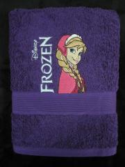 Embroidered towel with Anna design
