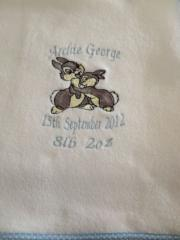 Bambi with mother embroidered at towel