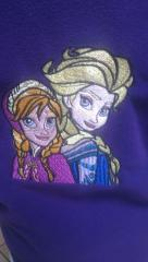 Jaket with Frozen sisters embroidery design