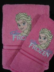 Frozen elsa embroidered bath towel