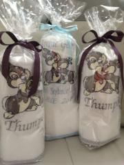 Embroidered towels with Bambi design