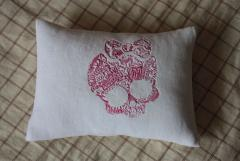 Embroidered pillow with Monster High design