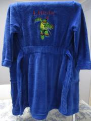 Raphael embroidered at bathrobe