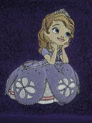 Towel with Sofia the first embroidery