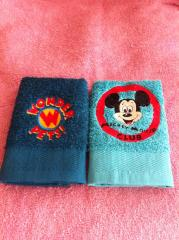 Mickey Mouse club at embroidered towel