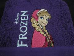 Embroidered at towel Anna design