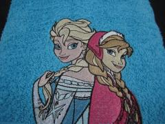 Frozen embroidered towel