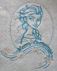 Frozen sketch embroidery design