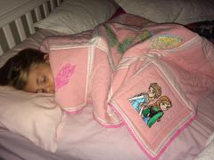 Blanket with Frozen embroidery design