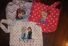 Embroidered Bag with Frozen designs