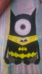 Minion Batman embroidery design