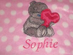 Embroidered Teddy Bear with heart design