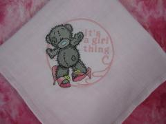 Quilt with Blue Nose Teddy Bear embroidered design