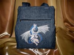 Bag with Bragon free embroidery design