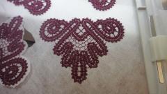 Kitchen towel FSL corner embroidery design