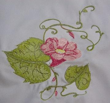 Summer flower embroidery design