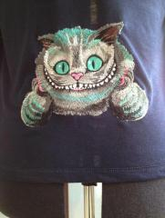 Cheshire cat embroidery design