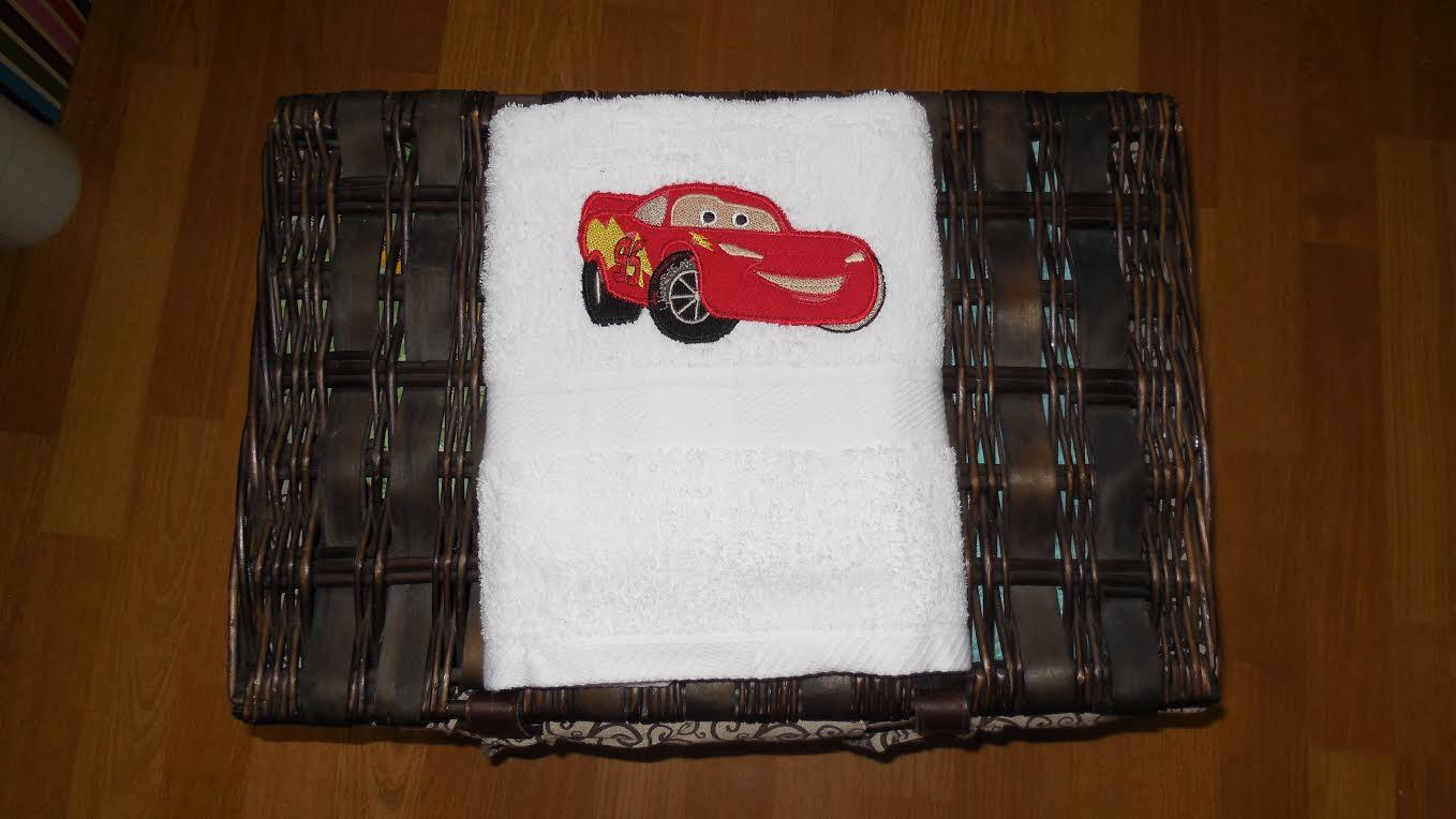 Lightning McQueen embroidery towel