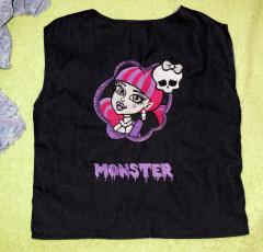 Monster high embroidered shirt -back