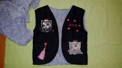 Jacket with Monster High embroidery designs