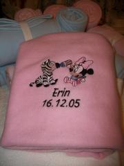 Embroidered towel with Mickey Mouse and Zebra