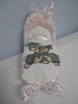 Baby towel with Bambi embroidery design