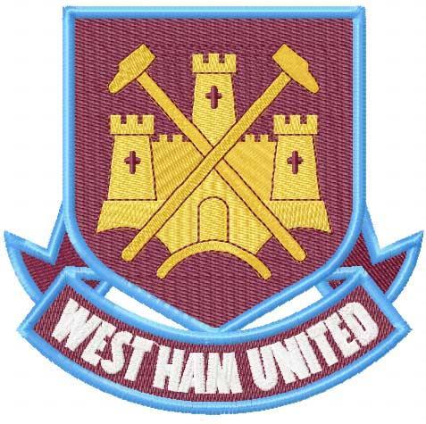 Westham united logo embroidery design