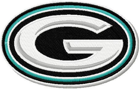 Guajome Park Academy Interlock logo machien embroidery design