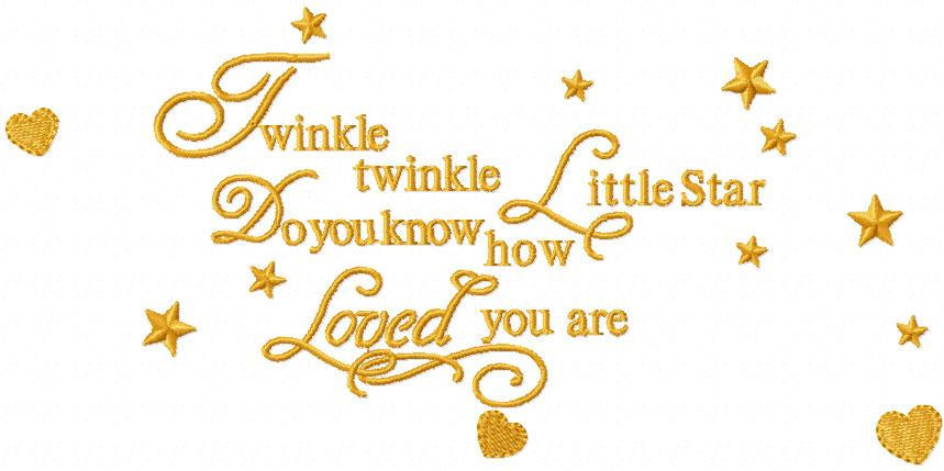 Twinkle embroidery design