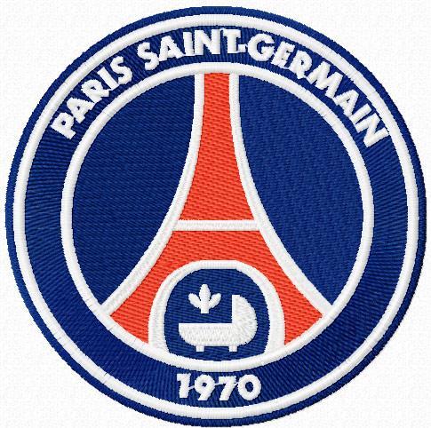 Paris San-German logo machine embroidery design
