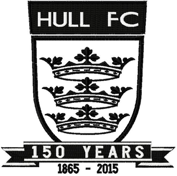 Hull FC 150 years anniversary logo embroidery design