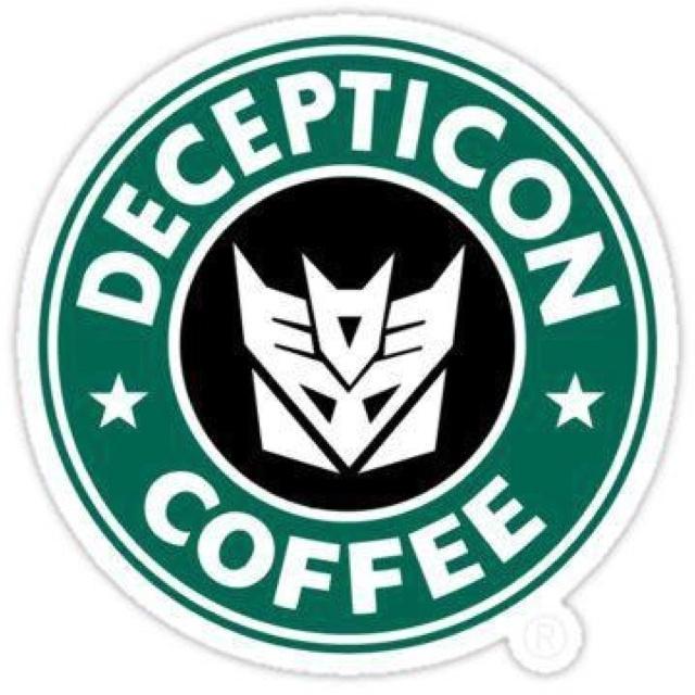 Decepticon Coffee art