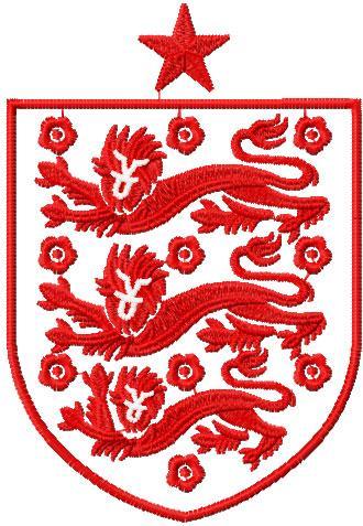 England national football logo embroidery design