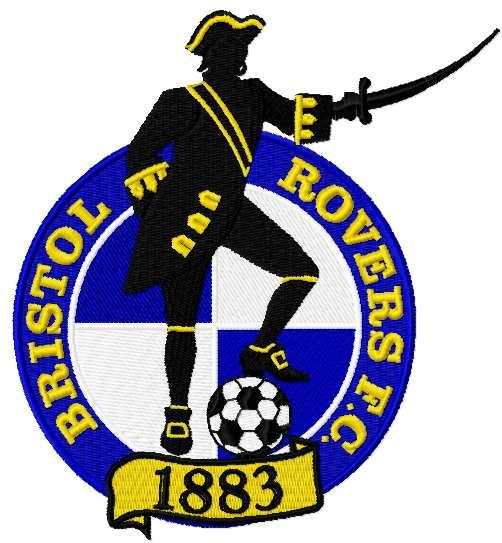 Bristol Rovers FC logo embroidery design